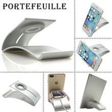Portefeuille Aluminium For Apple Watch Stand Smart Watch Charging Dock Holder for iPhone 7 Plus 6S iPad mini air Pro Accessories(China)