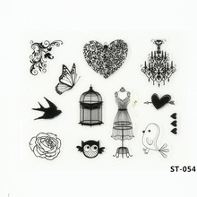 Lady Dress Clear Stamp DIY Silicone Seals Scrapbooking/card Making/photo Album Decoration Supplies.(China)
