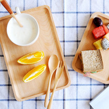 Hot selling 1pcs Simplicity Wooden tray rectangular tea tray fruit plate restaurant Coffee Tea Sushi Dessert Snack Serving tray