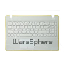 Brand new original Top Cover with Palmrest Keyboard, Left and Right Speakers for Samsung NP300E5K BA98-00832A White(China)