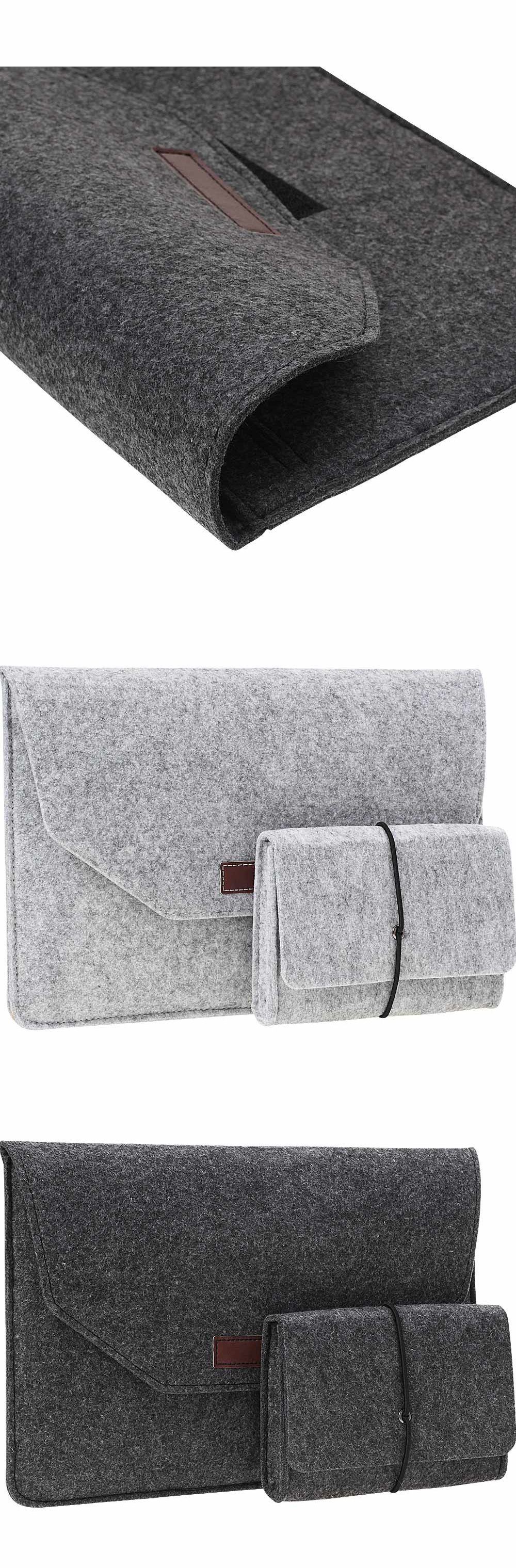 Soft For Macbook Air 13 Retina 13 Laptop Sleeve Wool Flet Case For Macbook Retina Pro 12 13 15 Touch Bar Laptop Case Mouse Bag  (5)