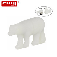 New USB Flash Drive Polar Bear Pen Drive 32GB 64GB 16GB 8GB 4GB Pendrive USB 2. 0 Flash Drive Memoria USB Stick U Disk for Gift(China)