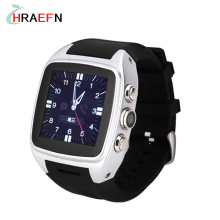 X01 Android Smart Watch phone 5.0MP Camera GPS Pedometer SIM TF Card APP download 3G WiFi GPS bluetooth Smartwatch 4G ROM 512RAM(China)