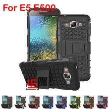 Armor Rugged Hybrid Hard PC TPU ShockProof Phone Phon Case Cover Bag Cove For Samsung Galaxy Gelaksi Galaxi Galaksi E5 E500