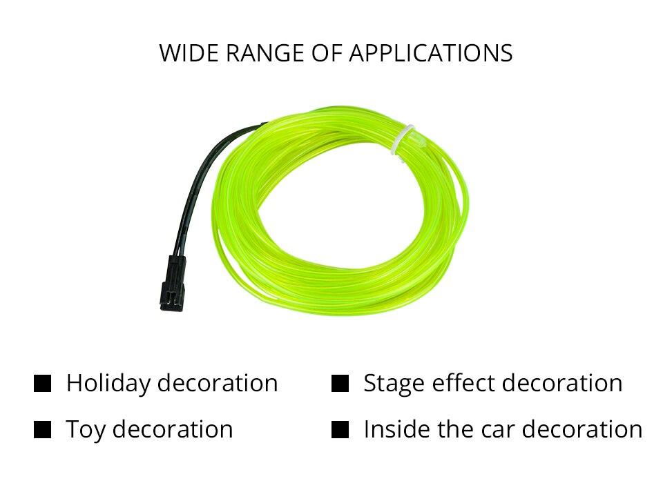1m 2m 3m 4m 5m Neon Light EL Wire  (2)