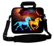 "10""13""14""15""17"" Glorious Horse Pattern Neoprene Laptop Handle Carring Sling Bag Computer Messenger Shoulder Pouch For Intel(China)"