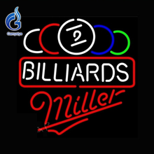 Neon Sign Miller Ball Billiards Pool Neon Bulb Affiche Lamp Lighted Glass Tube Tube Glass Neon Affiche Custom Neon Light VD17x17(China)