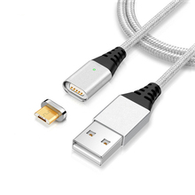 Magnetic USB to Micro USB Cable Fast Charging Cable Charger for Xiaomi 4x Android Cell Phones Magnet Durable Date Cable Charge(China)