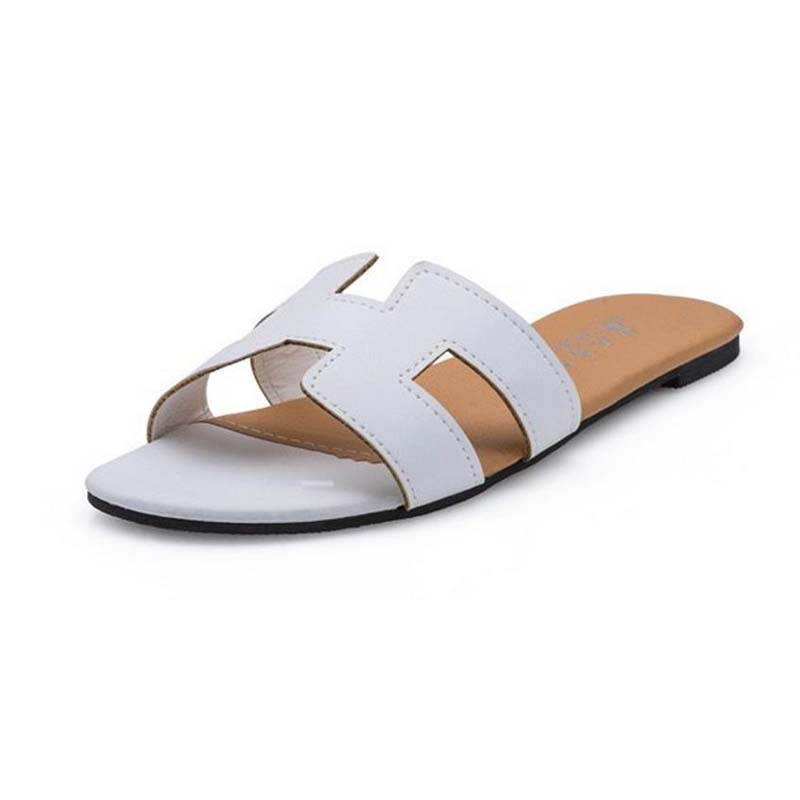 2017 new fashion summer womens casual flat with upper sole beach sandals concise big size outdoor lazy inside flipflops ws01<br><br>Aliexpress