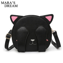 Mara's Dream 2017 Cat Bag Women Handbag for Teenagers Girls Cute Crossbody PU Leather Embroidery Shoulder Travel Bags