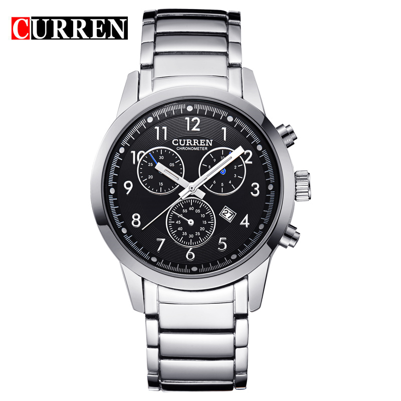 Curren Luxury Military Watch Fashion Style Date Display Steel Men watches quality Mens Wrist Watches Relogio Masculino,W8051<br><br>Aliexpress