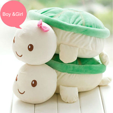 Aeruiy 20cm 1 pair cute soft plush cartoon animals green smiling turtles toy doll,creative Christmas & Valentine gift for lovers(China)