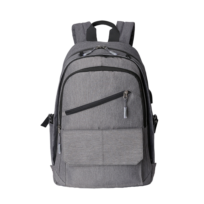 College Computer Backpack Removable Front Margin Can Out 15.6 Inch Notebook PC External USB Charging Interface Computer Package<br>