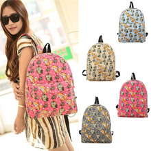 New Owl Fox Backpack Women Fashion School Bags For Girls Casual Printing Backpack Shoulder Bags Mochila