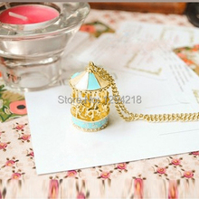 KUNIU 2013 Hot sales Korea Pop Carousel Pendant Nice Necklace for ladies sweater necklace chain with  1q