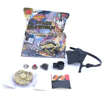 Beyblade Metal Fusion 4D BB124 BB105 BB106 BB108 BB113 BB114, Rapidity Beyblades Spin Top Toy Set,Bey blade Toy with Launcher