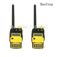 2-PCS New Baofeng Radio UV-500S Yellow Amateur Two Way Radio Dual Band UV136-174/400-520MHz Walkie Talkie+Free Earpiece(China)