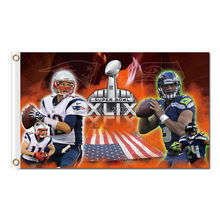 New England Patriots Us Country Design Flag Football Banners 3ft X 5ft Banner Super Bowl Champions Custom Flag Tom Brady(China)