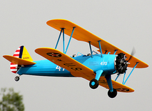 Unique Boeing Stearman PT-17 Trainer Remote Control Aircraft Aeromodelling PT17 RC Plane Model PNP Radio Controlled Airplane(China)