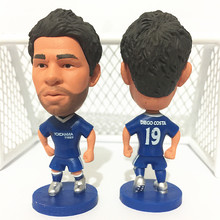 Soccerwe Stand 19 Diego Costa Soccer Doll ( Che 2017 Season ) Blue