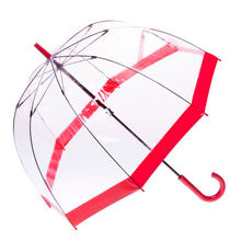 [ Fly Eagle ]Transparent Clear Arch Apollo Umbrella Parasol For Wedding Party Favor Red