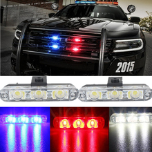 Best Quality 2x3/Led Ambulance Police light DC 12V Car Light Flashing Firemen Lights Strobe Warning light Car-Styling