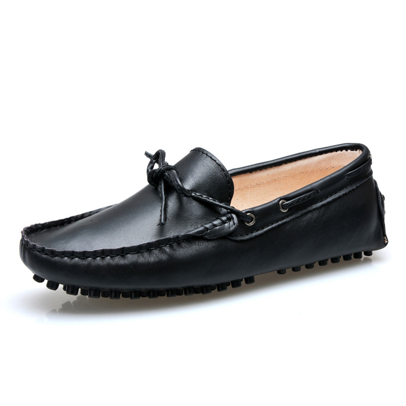 Spring Autumn Genuine Leather Men Flat Shoes Fashi...
