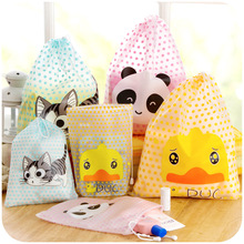 1 Pc Cute Big Small Cartoon Candy Color Dot Waterproof Travel Storage Bag Cosmetic Pouch For Clothing Sundries F2245
