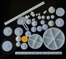 34 kinds of rack and pinion gear bag toy model pulley plastic worm gear reducer diy kit Free shipping(Hong Kong)