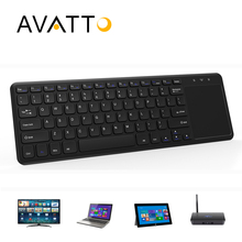 [AVATTO] Fashion Ultra-thin T18 2.4GHz Wireless Multimedia Keyboard with Touchpad for Windows,Android,iOS,PC Pad,Samrt tv,TV Box