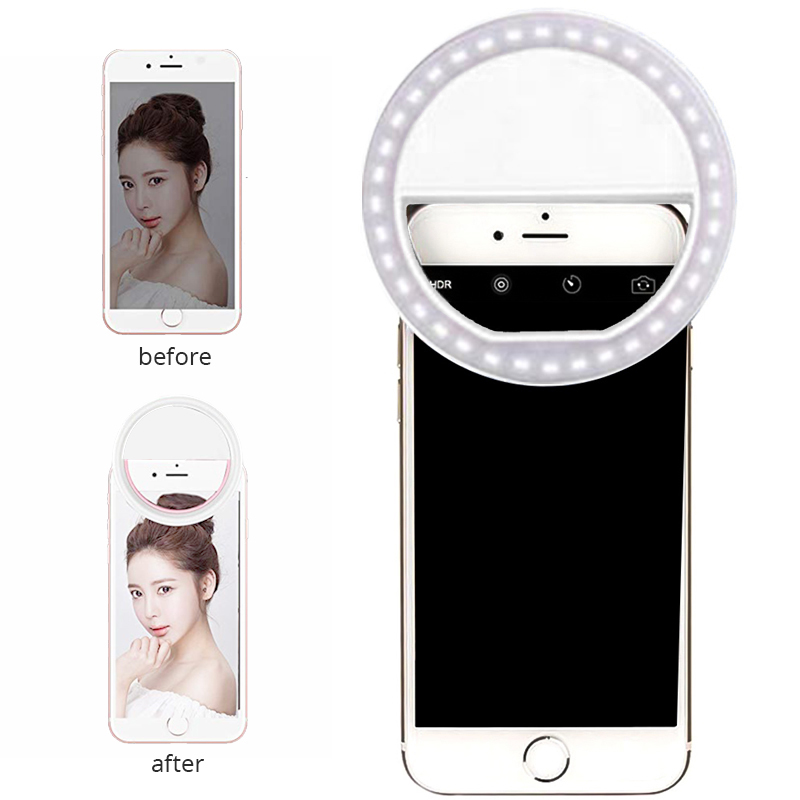 Ring Light For Autodyne With 36 Led Lights Makeup Light For Phone With Three Adjustable Brightness Levels Brighten Up Photos