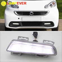 Lampever New 12V Car DRL kit For Mercedes-Benz smart fortwo 2012-2015 LED Daytime Running Lights bar daylight lamps auto for car(China)