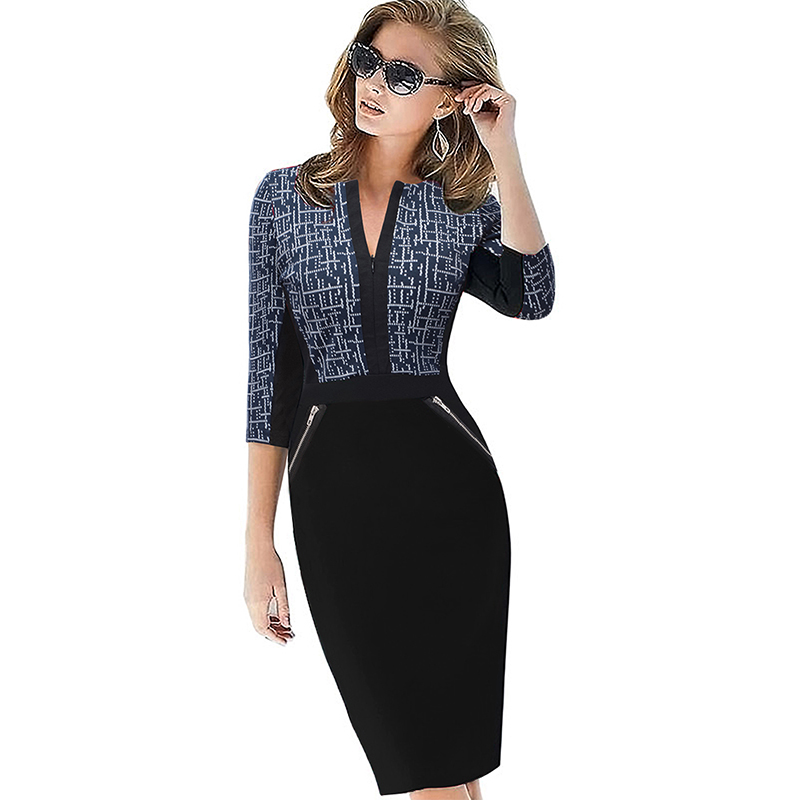 Plus Size Elegant Bodycon Pencil dress 11