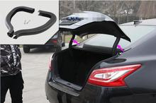 High Quality ! Plastic / Rear Trunk Hinged Protective Cover Trim 2 pcs For Hyundai new Teana 2013-2016