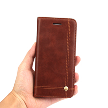 6S Cell Phone Cases For Apple iPhone 6S PU Leather Cover Retro Crazy Horse Flip Case Card Holders Mobile Phone Bag For iPhone 6