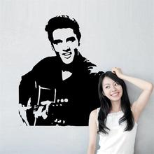 Elvis Presley play guitar home decal wall sticker / Rock Music bedroom decor wallpaper/gifts adesivo de parede for fans Elvis12