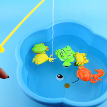 1 Set New Educational Magnetic Fishing Toys for Children Fishes Outdoor Fishing Rods Baby Kids Early Learning Funny Game Gifts