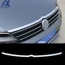 AX Fit For 2011-2014 VW Vento Jetta Chrome Front Hood Bonnet Grille Lip Molding Cover Trim Bar Garnish Accent Sticker Styling