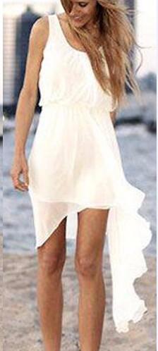 2015-Summer-Style-Cheap-Short-Ivory-Chiffon-Casual-Beach-Wedding-Dress-Bridal-Gown-Custom-Made-Size (4)