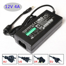 Led switching power AC/DC adapter 12V 4A 48W Table type with cable AU/EU/UK/US plug available