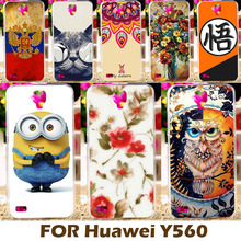 Top Selling DIY Painting Design Hard Plastic Cases For Huawei Y5 Y560 Y560-L01 4.5 Inch Phone Case Cover Protective Sleeve Back