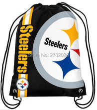 Pittsburgh Steelers Drawstring Bags Men Sports Backpack Digital Printing Pouch Customize Bags 35*45cm Sports US Fottball Team(China)