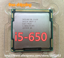 Intel Core i5-650 Processor i5 650 3.2 GHz 4MB Cache Socket LGA1156 32nm 73W Desktop CPU free shipping