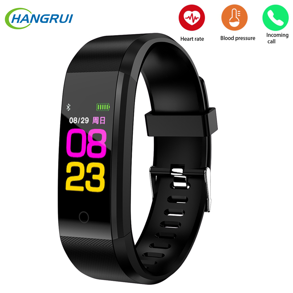 Trustful 115plus Smartwatch Waterproof Sports Pedometer Heart Rate Monitor Bluetooth Smart Band For Dropshipping Men's Watches Watches