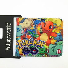 Wholesale Hot Game Pokemon Go wallet Pikachu Wallets Lovely students Women Men wallets Best Purse Gift For Kids