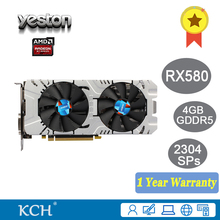Buy YESTON Radeon RX580 4GB GDDR5 256Bit HDMI DVI DP 2304SPs Desktop Gaming Graphics Card for $886.00 in AliExpress store