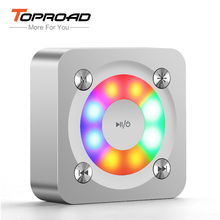 TOPROAD HIFI Bluetooth Speaker Portable Mini LED Flash Speakers Super Bass Music Sound Box caixa de som with Mic TF for Phone PC(China)