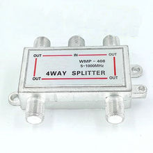 WMP-408 Cable TV distributor Closed circuit television signal splitter distributor divide one into four branches(China)