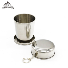 HIKEBROS Camping Tableware Outdoor Sports Cup Folding 250ML Big Capacity Hiking By Stainless Steel Camping Cookware 300285