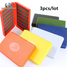 Maximumcatch 3 Pieces/Lot 7 Colors For Choose 156*108*28mm Slim Pocket Plastic Wateproof Fly Fishing Box(China)